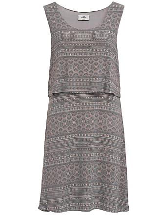8a870832d8954f Gina Benotti Damen Jerseykleid im Lagen-Look, grau / rosa, Gr. 36