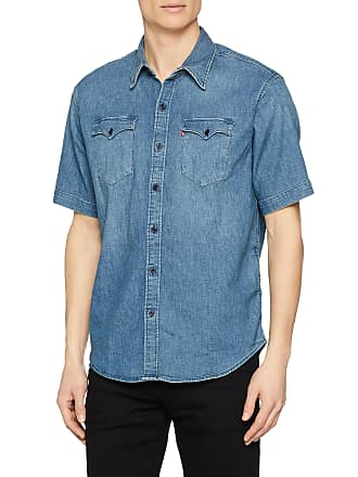 694db33405a Levi's Mens Ss Modern Barstow Casual Shirt, Blue (Green Cast Mid 0000),