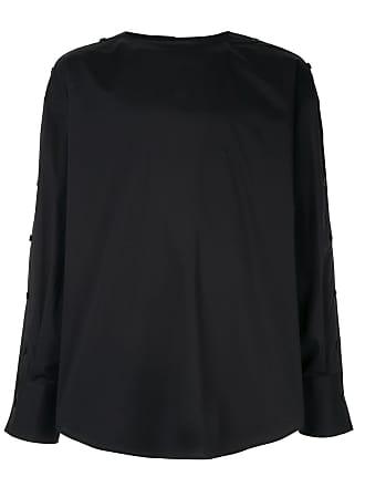Wooyoungmi Camisa oversized sem colarinho - Preto