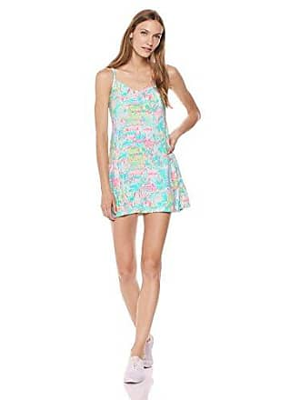 Lilly Pulitzer Womens UPF 50+ Meryl Nylon Adelia Tennis Dress, Multi Perfect Match, XL