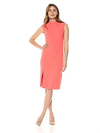 Ivanka Trump Womens Midi Scuba Crepe Dress, Georgia Peach, 8