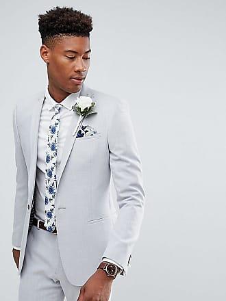 Asos ASOS TALL - Bröllop - isgrå kostym med extra smal passform från Cross  Hatch med 88acc009dae9f