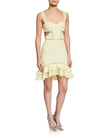 2327e3444d Jonathan Simkhai Seersucker Gingham Cutout Flounce Mini Dress