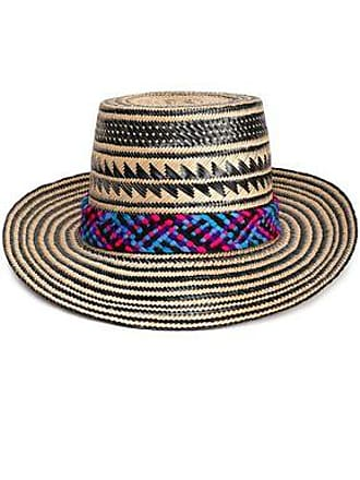 e56367fa9fc2e9 Yosuzi Yosuzi Woman Kumi Pompom-embellished Woven Straw Sunhat Black Size L