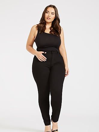 Alloy Apparel Plus Size Skinny High Rise Jeans for Tall Women Black 1XL/32 - Rayon