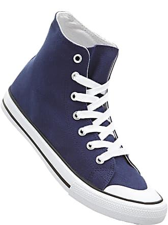 dac3851be72 Bonprix Dam Sneakers med högt skaft i blå - bpc collection