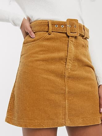 Pimkie cord mini skirt in brown
