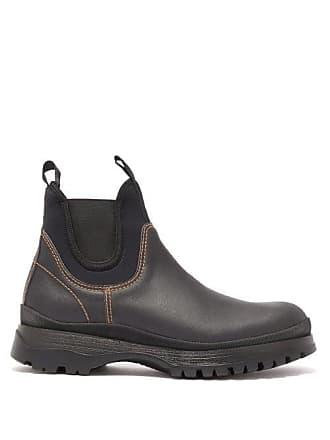31eae1c322e Prada Brixxen Leather Chelsea Boots - Mens - Black