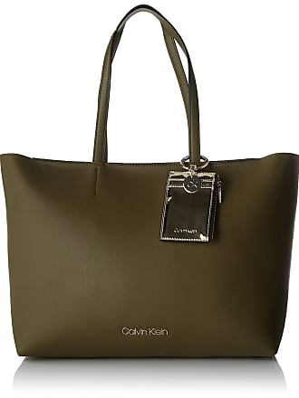 Calvin Klein Womens Ck Must Psp20 Med Shopper Tote Green (Drk Olive), 11x27x39 cm (W x H x L)