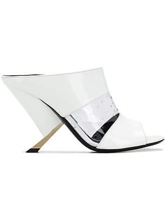 Casadei sculpted heel mules - Branco