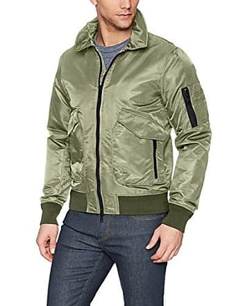 J.Lindeberg Mens Nylon Flight Jacket, Beetle, XX-Large