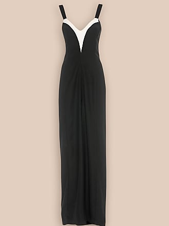 L'autre Chose ONE-PIECE JUMPSUIT IN BLACK CRÊPE WITH WHITE INLAY DETAIL
