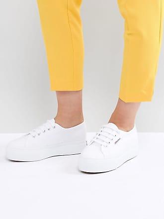 Superga 2790 - Linea - Weiße Sneaker mit dicker Plateausohle