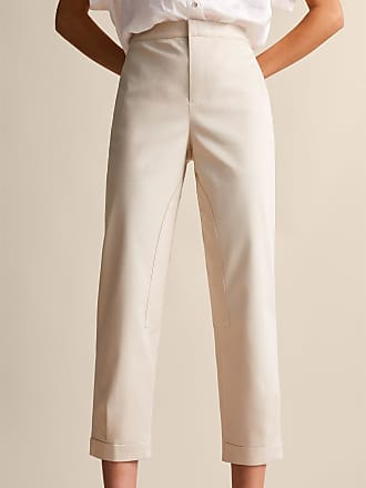 MASSIMO DUTTI SLIM FIT TROUSERS WITH BUTTON DETAIL