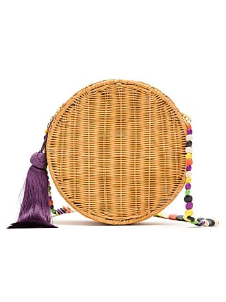 Serpui beaded strap woven bag - Light Honey