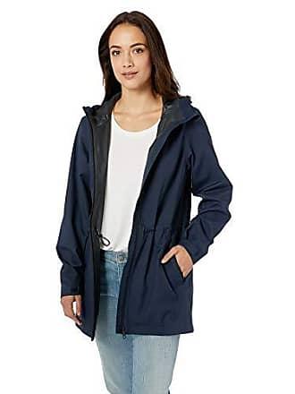 Amazon Essentials Womens Waterproof Rain Jacket, Navy, Medium