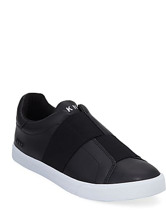 DKNY Mens Brogan Slip-On Leather Sneakers