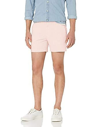 Goodthreads Mens 5 Inseam Stretch Seersucker Short, Light Pink/White Stripe, 31
