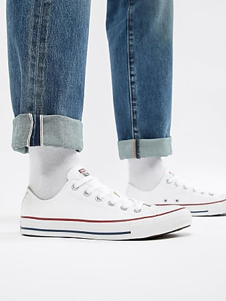 c604b2417d3816 Converse All Star Ox Plimsolls In White M7652