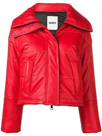 Yves Salomon - Army cropped padded jacket - Red