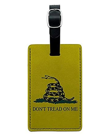 Graphics & More Graphics & More Gadsden Flag Dont Tread On Me Leather Luggage Id Tag Suitcase Carry-on, Black