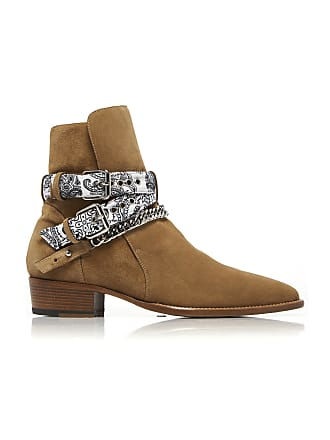 Amiri White Bandana Buckle Boot