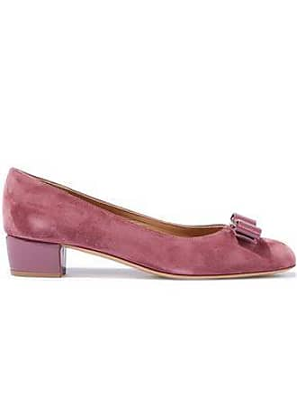 34520024e9c Salvatore Ferragamo Salvatore Ferragamo Woman Vara Patent Leather-trimmed  Suede Pumps Pink Size 9.5