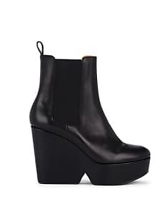 e7ad3c2ddc491 Robert Clergerie Womens Beatrice 2 Leather Platform Ankle Boots - Black  Size 7.5