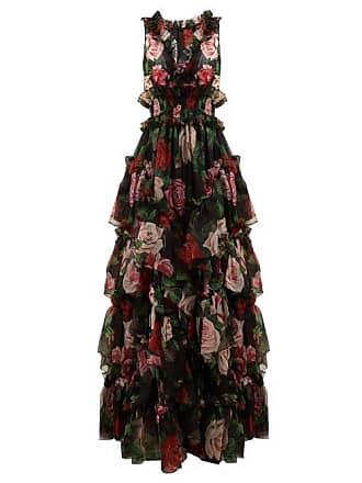 6c25aa1c Dolce & Gabbana Floral Print Silk Organza Gown - Womens - Black Multi