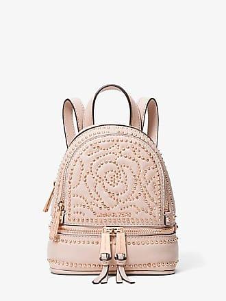 Michael Kors Rhea Mini Rose Studded Leather Backpack