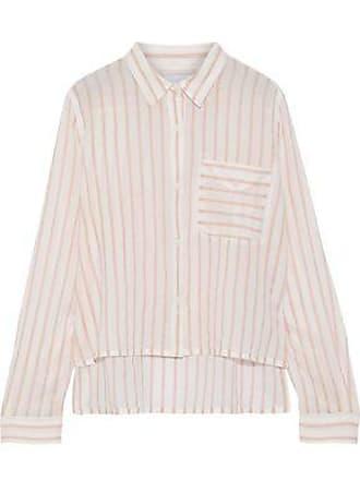e8a04179 Current Elliott Current/elliott Woman The Georgia Striped Cotton-gauze Shirt  Baby Pink Size