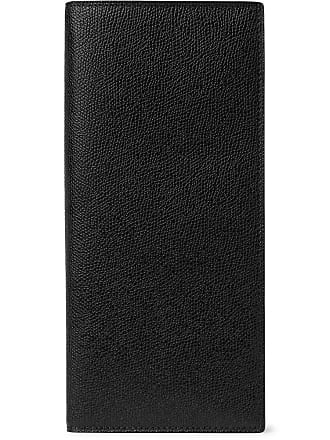 Valextra Pebble-grain Leather Travel Wallet - Black