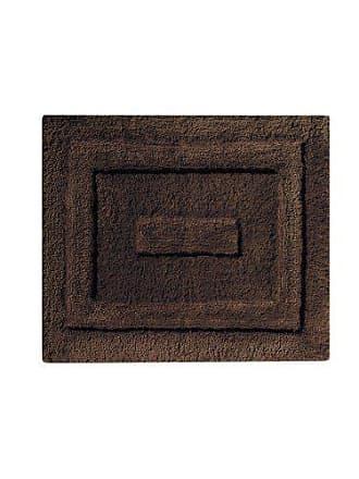 InterDesign Microfiber Spa Bathroom Accent Rug, 21 x 17, Chocolate