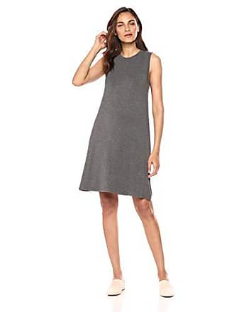 Daily Ritual Womens Jersey Muscle Swing Dress, Charcoal Heather Grey, Small