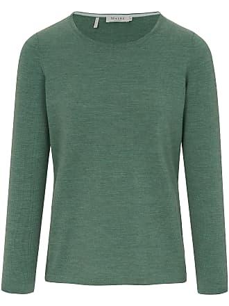 2812fe4d4f Maerz Rundhals-Pullover aus 100% Schurwolle MAERZ Muenchen grün
