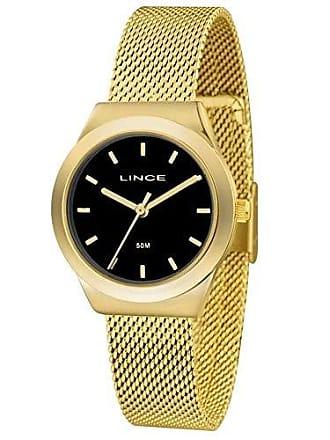 Lince Relógio Feminino Lince Mesh LRG4493L P1KX - Dourado