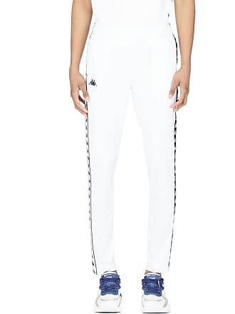Kappa 222 Banda Astoria Slim Track Pants - White/Black