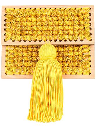 0711 Copacabana small woven clutch - Yellow