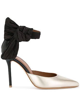Malone Souliers Sapato de couro e seda - Dourado