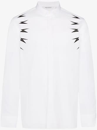Neil Barrett Lightning Bolt print shirt - Branco