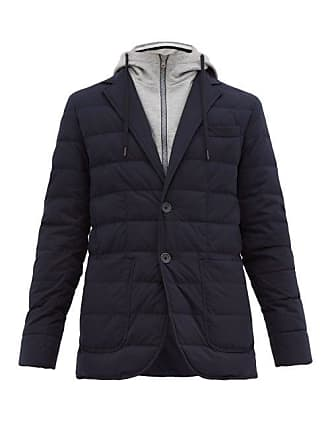 Herno Single Breasted Down Quilted Jacket - Mens - Navy