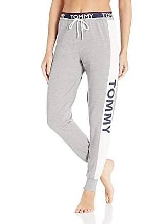 fb675d0d Tommy Hilfiger Womens Logo Jogger Sweatpant Lounge Pant Bottom Pajama Pj, Heather  Grey with Heart