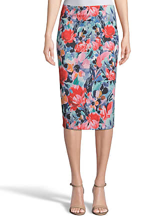 5twelve Floral-Printed Straight Scuba Skirt