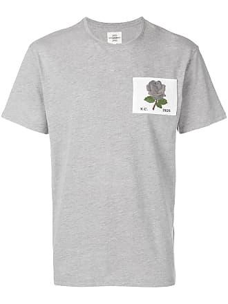 Kent & Curwen Camiseta com patch de rosa - Cinza
