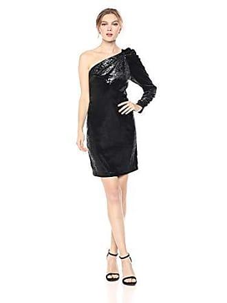 ce7a60ca0 Bcbgmaxazria BCBGMax Azria Womens One Shoulder Shimmer Velvet Dress, Black,  2