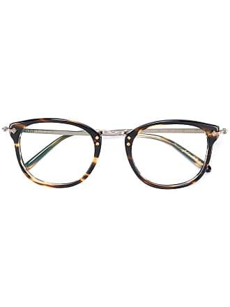 Oliver Peoples Armação de óculos redonda - Marrom