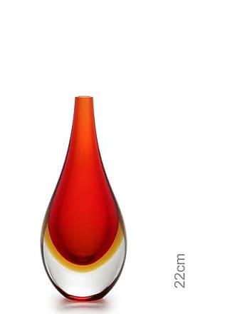 Cristais cá d'Oro Gota Mini Média Bicolor Vermelha com Âmbar