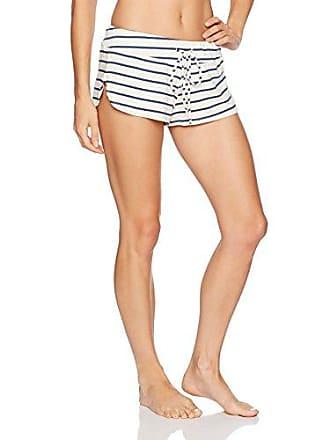 Eberjey Womens Lounge Stripes Shorts, Ivory/Navy, Large