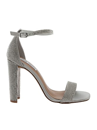 cf813819df3 Steve Madden Franky sandals in silver with rhinestones
