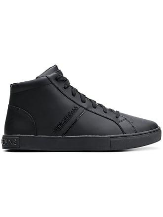 a4b1ddedb994 Versace Jeans Couture baskets montantes à plaque logo - Noir